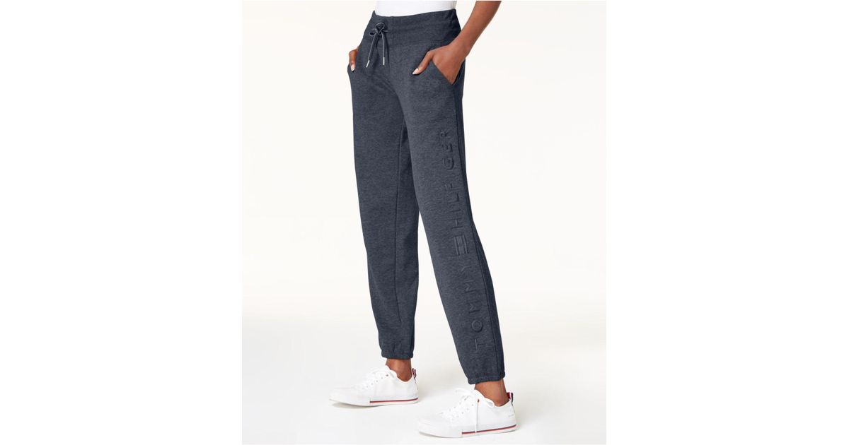 14b136188 Lyst - Tommy Hilfiger Embroidered Logo Sweatpants