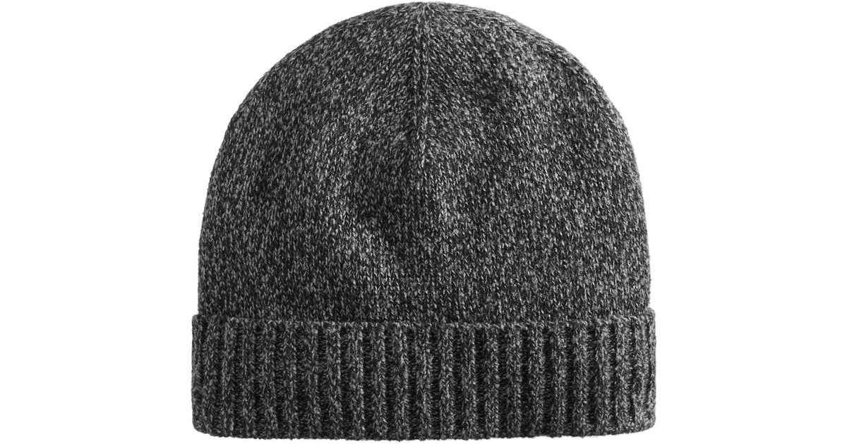 Lyst - Kenneth Cole Reaction Marled Beanie in Black for Men c310acd42cb
