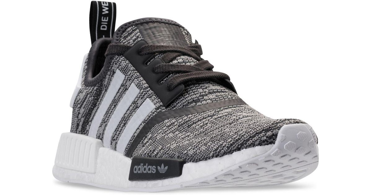 8a35bd7c00e1f ... discount lyst adidas nmd r1 casual sneakers from finish line in gray  31679 dd2fe