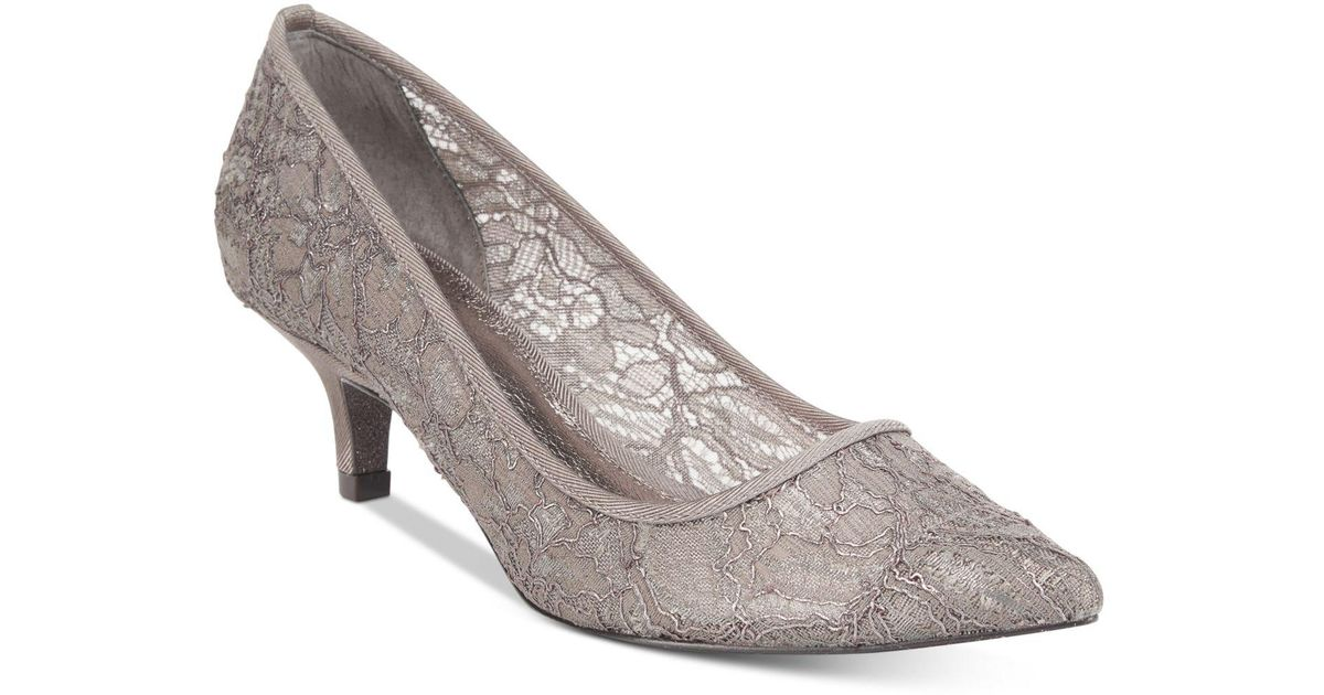 6ccece5c5f5 Lyst - Adrianna Papell Lois Lace Evening Pumps