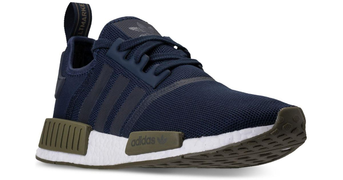 6fae001cf Lyst - adidas Men s Nmd R1 Casual Sneakers From Finish Line in Blue for Men
