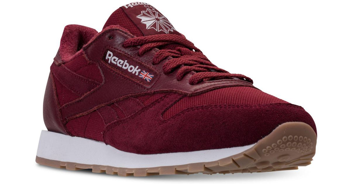 47bf031dae37 Lyst - Reebok Men s Classic Leather Estl Casual Sneakers From Finish Line  in Red for Men