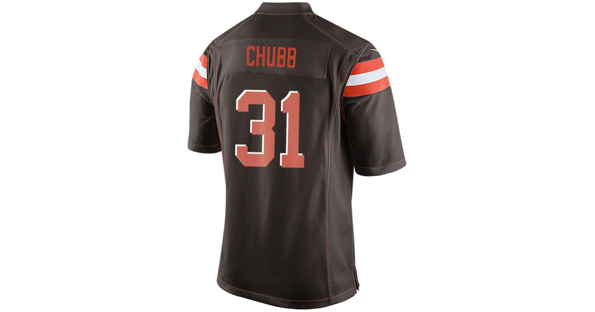 Lyst - Nike Nick Chubb Cleveland Browns Game Jersey in Brown for Men 605d8362d
