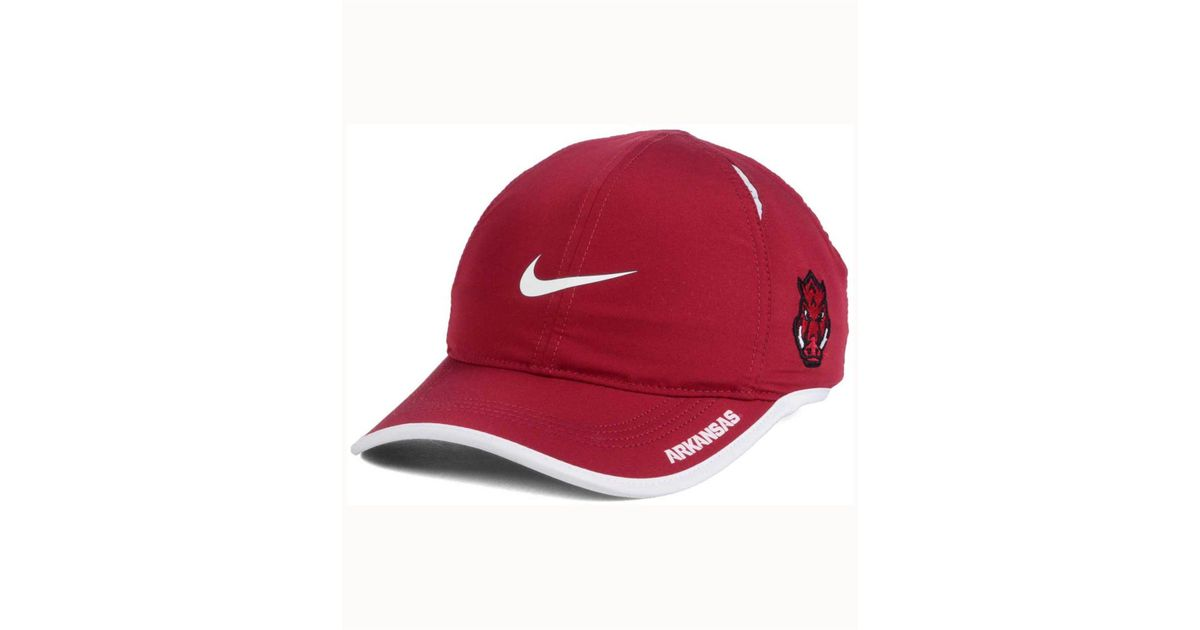 new product 735e3 f64a1 ... best price lyst nike arkansas razorbacks featherlight cap in red for  men 301bf 5fd39