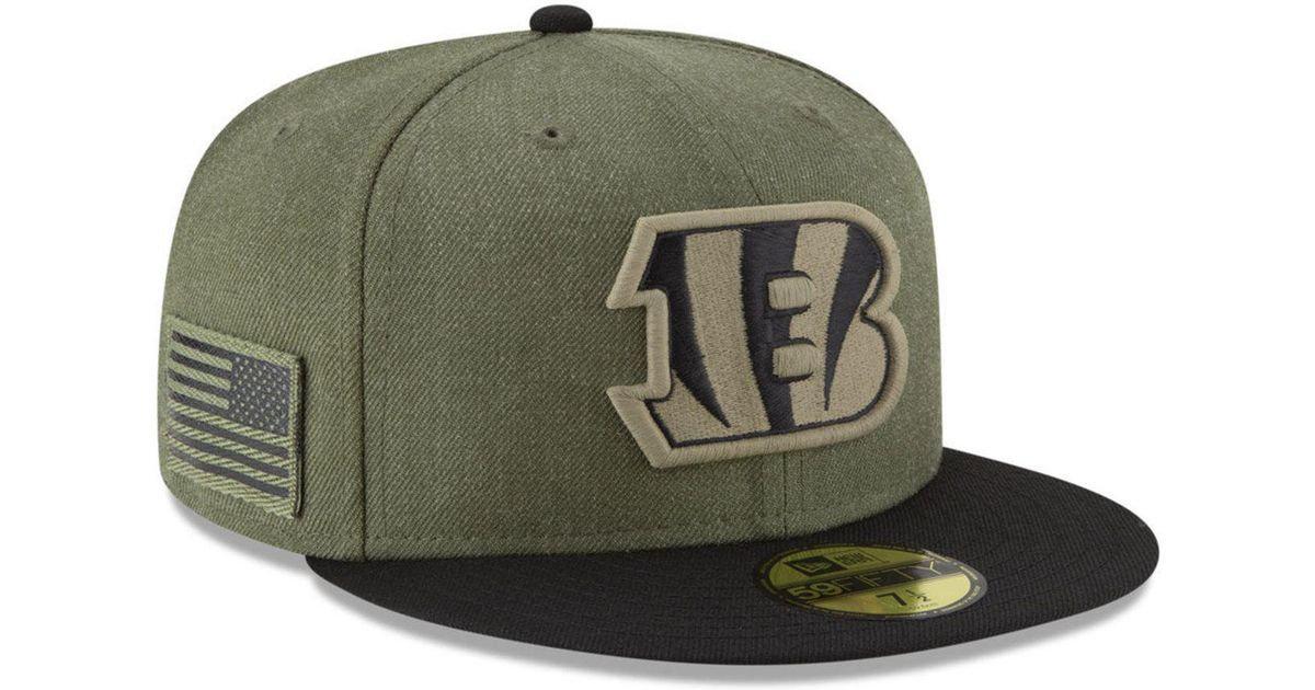 brand new eb83a 91ce0 KTZ Cincinnati Bengals Salute To Service 59fifty Fitted Cap in Green for Men  - Lyst