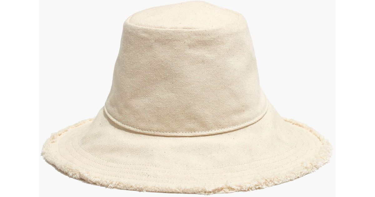 Lyst - Madewell Canvas Bucket Hat in Natural 410c9bf8ffb