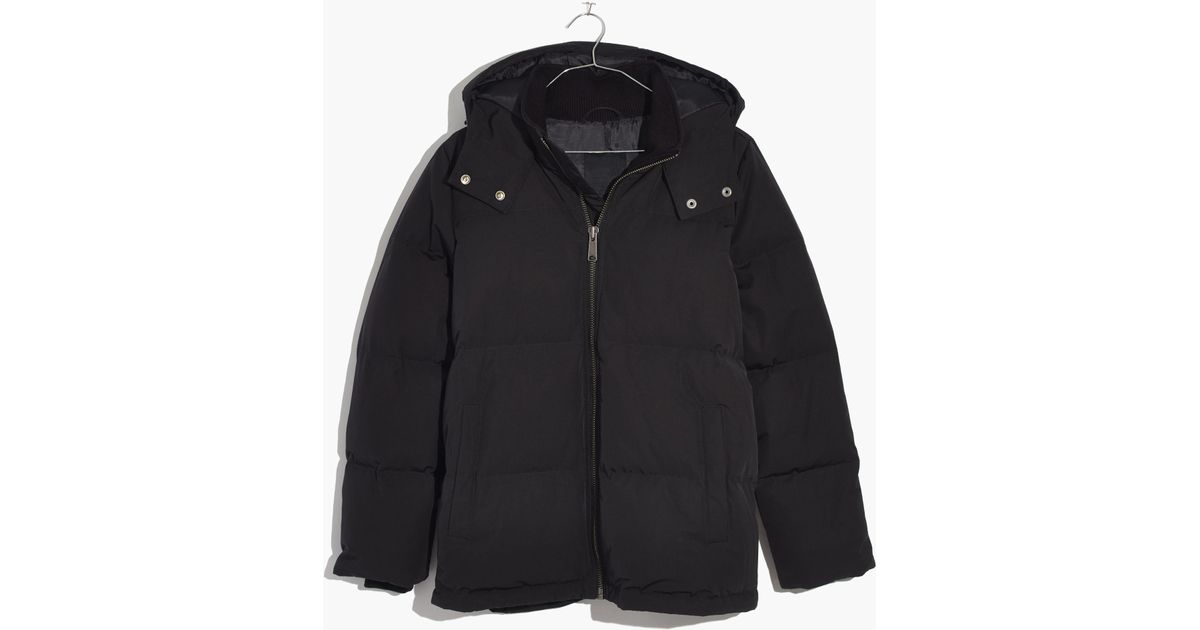 537a140160a Madewell Black Quilted Down Puffer Parka for men