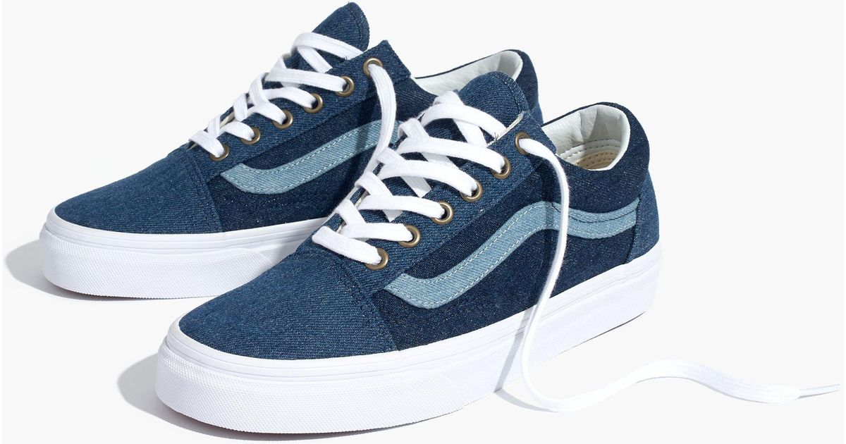 441b5e4f021 Madewell X Vans® Unisex Old Skool Sneakers In Denim in Blue for Men - Lyst