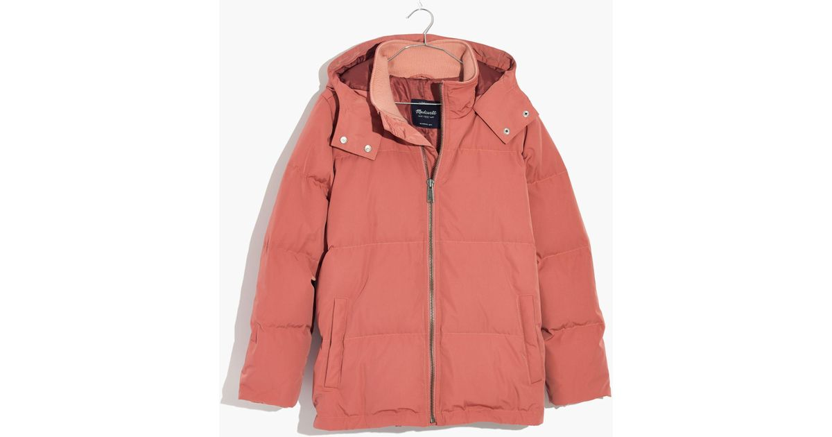a474131b5b22a Lyst - Madewell Quilted Down Puffer Parka