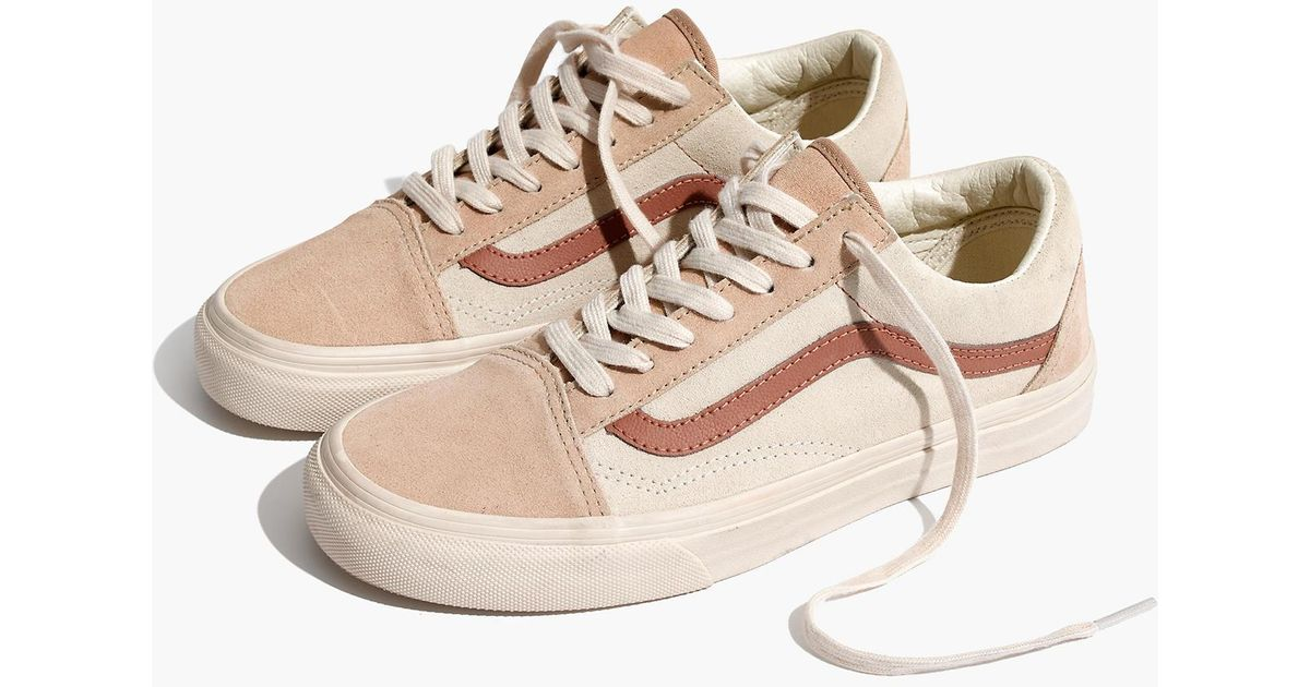 Madewell Natural X Vans® Unisex Old Skool Lace-up Sneakers In Camel  Colorblock