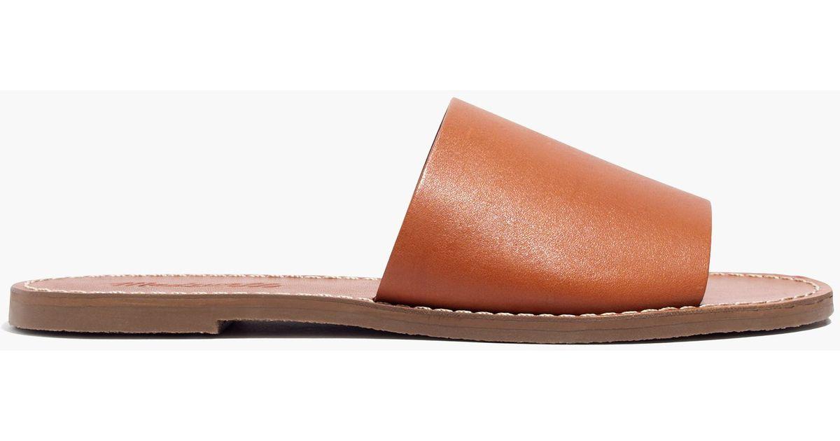 a8f6e8dcd4da Lyst - Madewell The Boardwalk Simple Slide Sandal in Orange