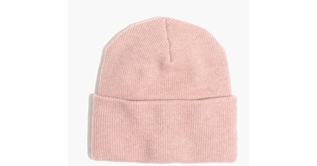Lyst - Madewell Ryder Cuffed Beanie in Pink 5a0fdbbb04ec