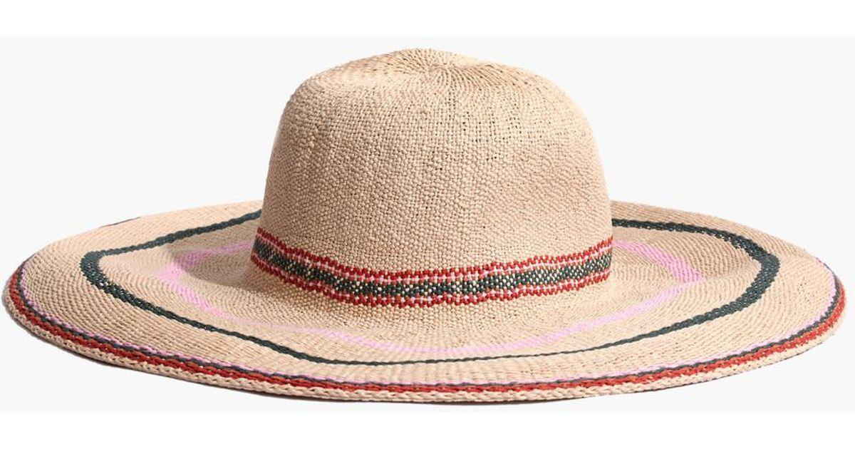 bc5a6860c4d Lyst - Madewell X Biltmore Tulum Striped Straw Hat