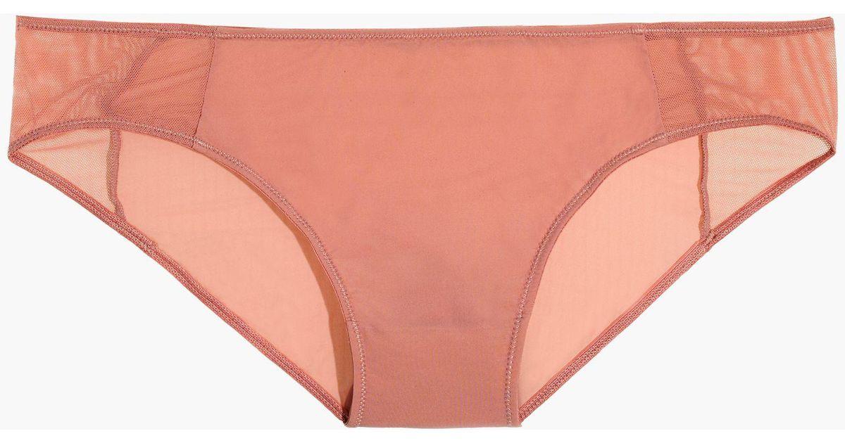 3ebcdffdc622 Madewell Mesh-trimmed Bikini in Pink - Lyst