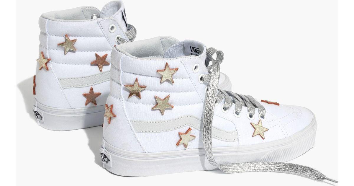 5ba8b0902d Lyst - Madewell Star-patched Vans® Unisex Sk8-hi High-top Sneakers in  Metallic