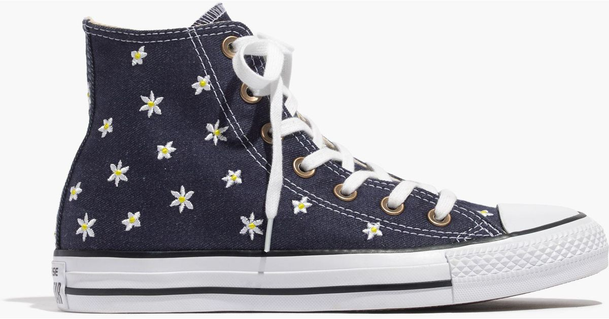 018466bcda3070 Lyst - Madewell Converse® Chuck Taylor All Star High-top Sneakers In Denim  Daisy in Blue