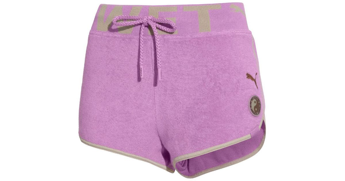 66da113b PUMA Purple Violet Tulle Terrycloth Dolphin Shorts