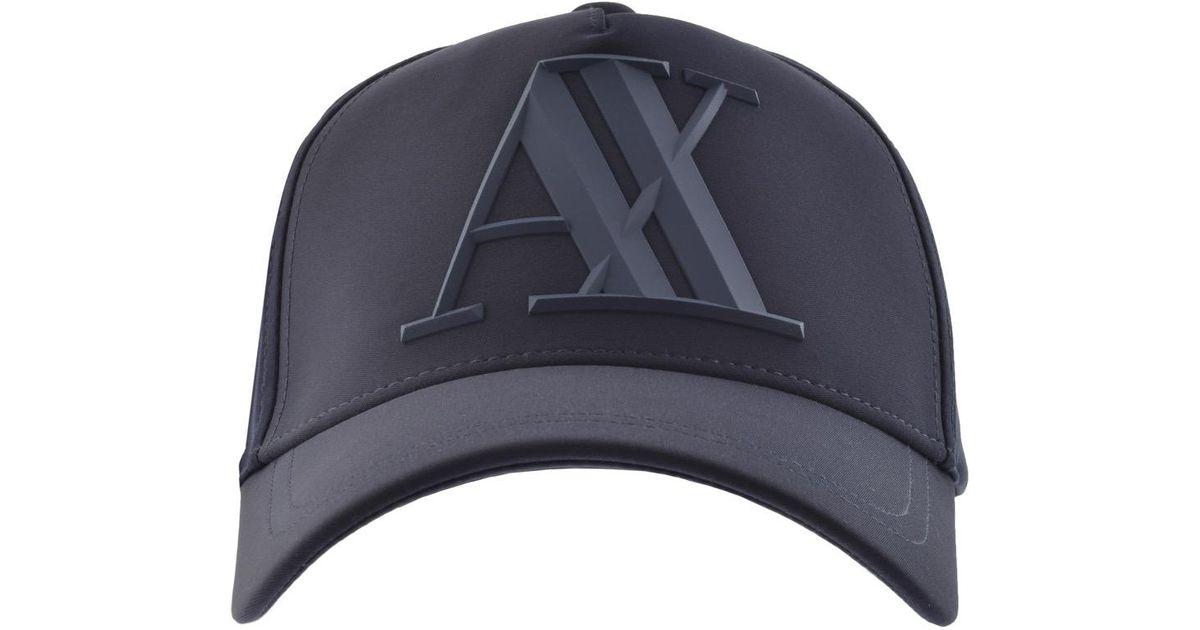 b88b113071b5f Armani Exchange Logo Cap Navy in Blue for Men - Lyst