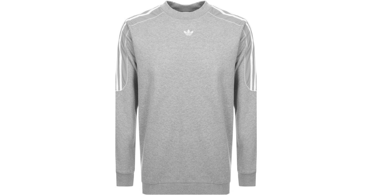 Adidas Originals Gray Radkin Crew Neck Sweatshirt Grey for men