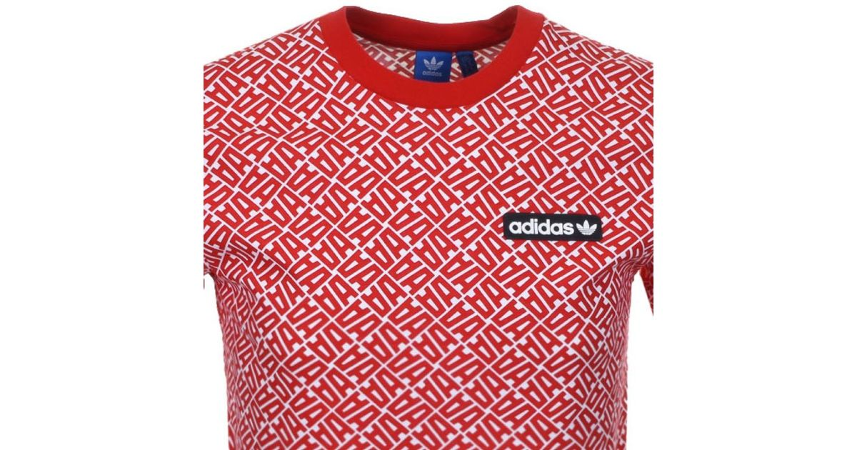 b9e4350f2959 adidas Originals Anchikov T Shirt Red in Red for Men - Lyst