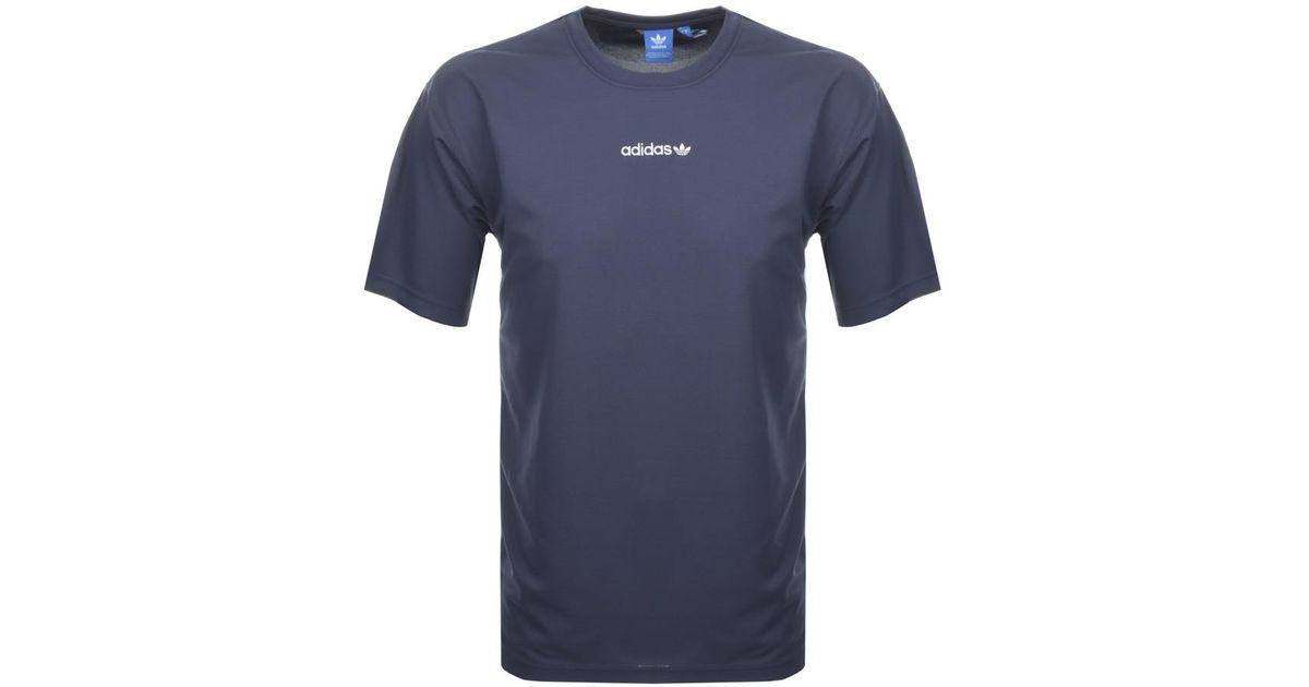 Adidas Originals Tnt Tape T Shirt Blue for men