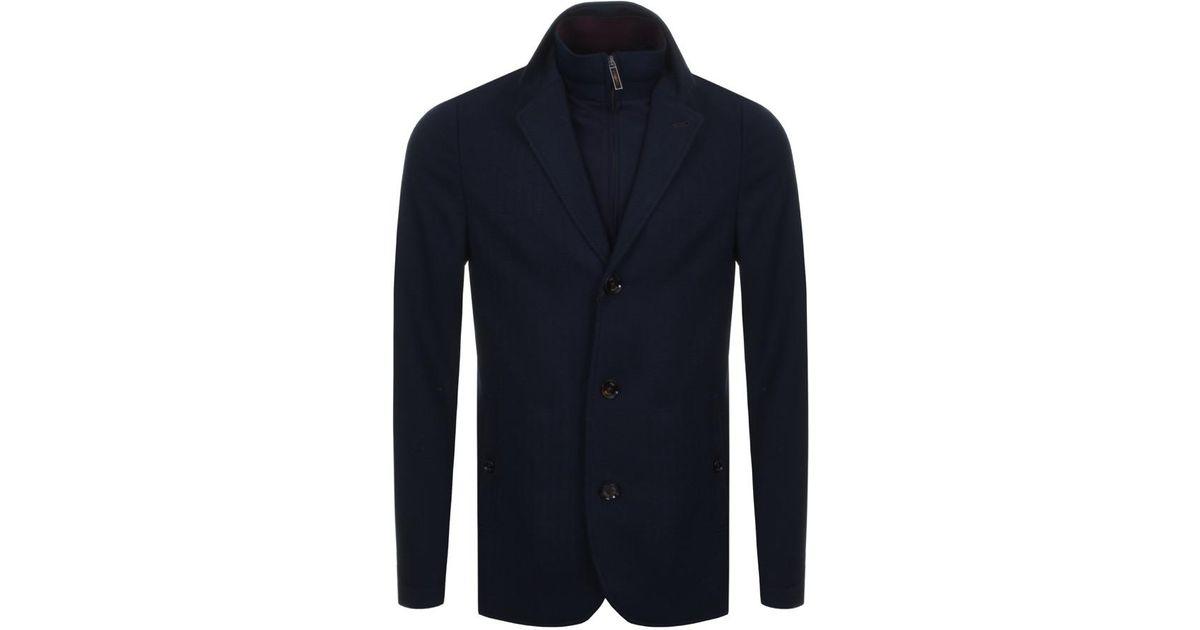928002db9096fe Lyst - Ted Baker Toastie Herringbone Blazer Jacket Navy in Blue for Men