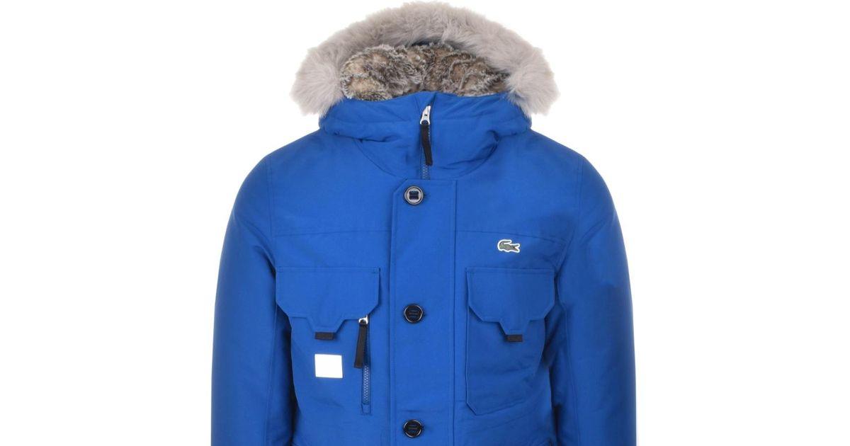 Blue ive Parka Lacoste For L Men Jacket Hooded lKcFJ1