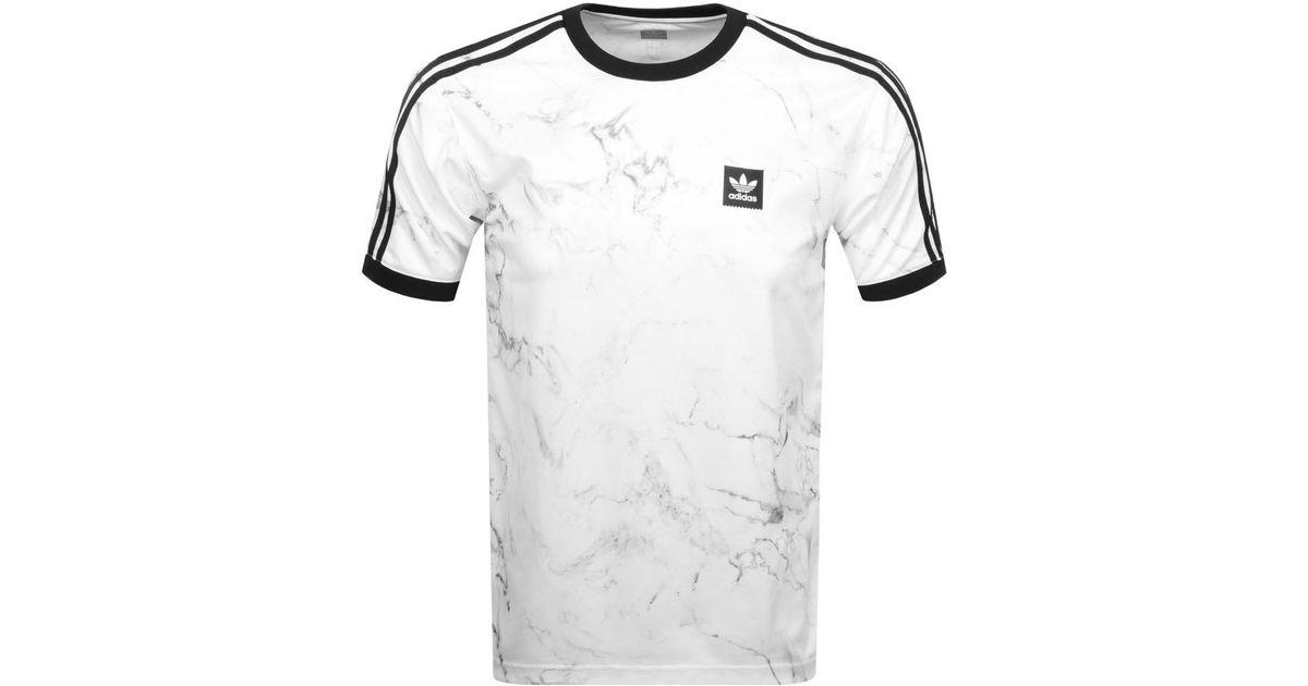 Adidas Originals Marble Clima Club T Shirt White for men