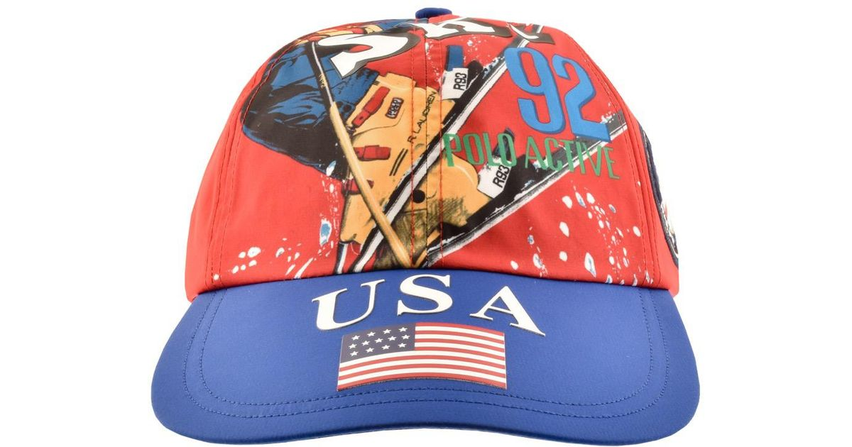 Ralph Lauren Classic Ski Baseball Cap Red in Red for Men - Lyst 3b55713d628