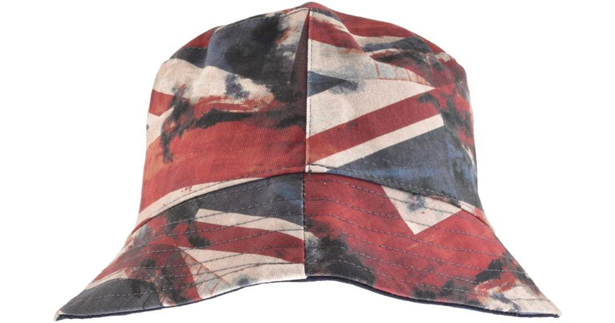 1558eab0f Pretty Green Blue Reversible Union Jack Bucket Hat Navy for men