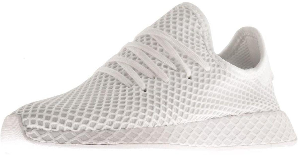 c955da7d9ff7c adidas Originals Deerupt Runner Trainers White in White for Men - Lyst