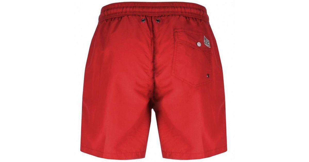 c0c2bf0555 Ralph Lauren Traveller Swim Shorts Red in Red for Men - Lyst