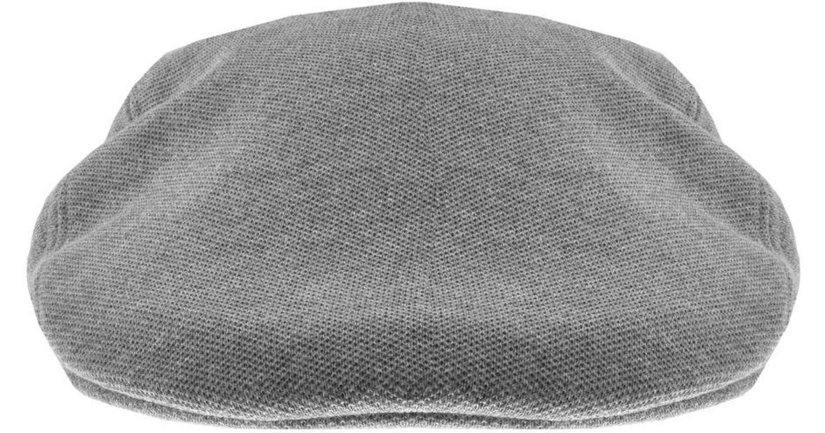 aa23c279c9c04 Lyst - Lacoste Pique Flat Cap Grey in Gray for Men