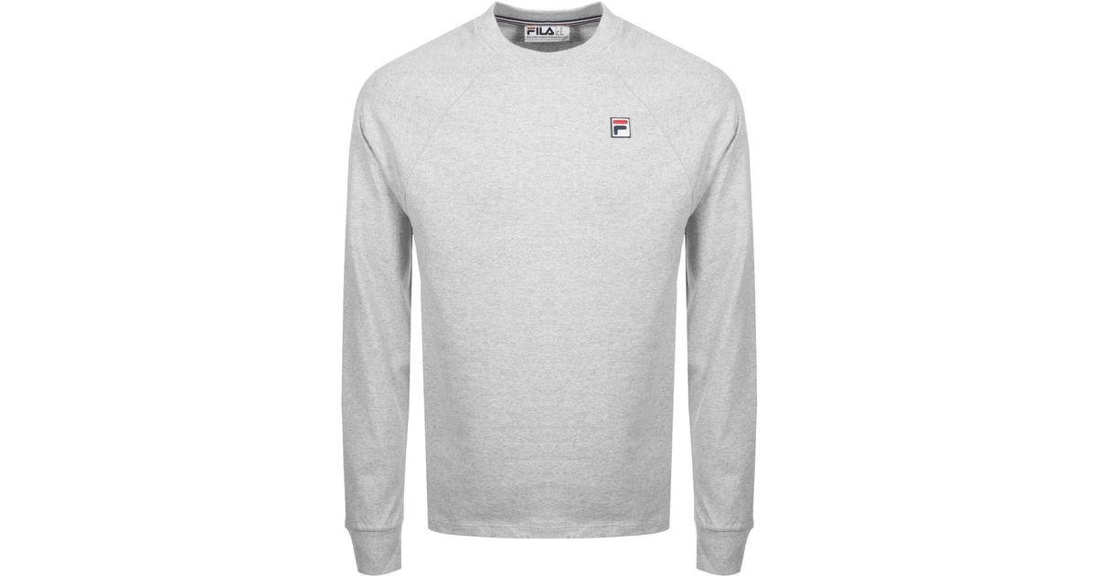 Fila Vintage Gray Felice 2 Long Sleeve T Shirt Grey for men