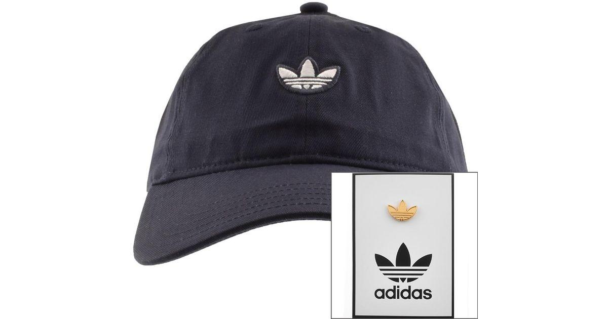 4e75295b4 Adidas Originals Blue Samstag Dad Cap Navy for men
