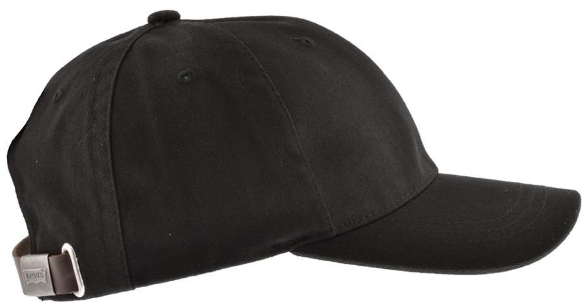 Lyst - Levi s Red Tab Cap Black in Black for Men a69566b4a01