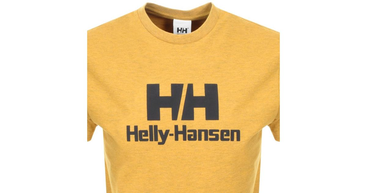 3214ae468438 Lyst - Helly Hansen Logo T Shirt Yellow in Yellow for Men