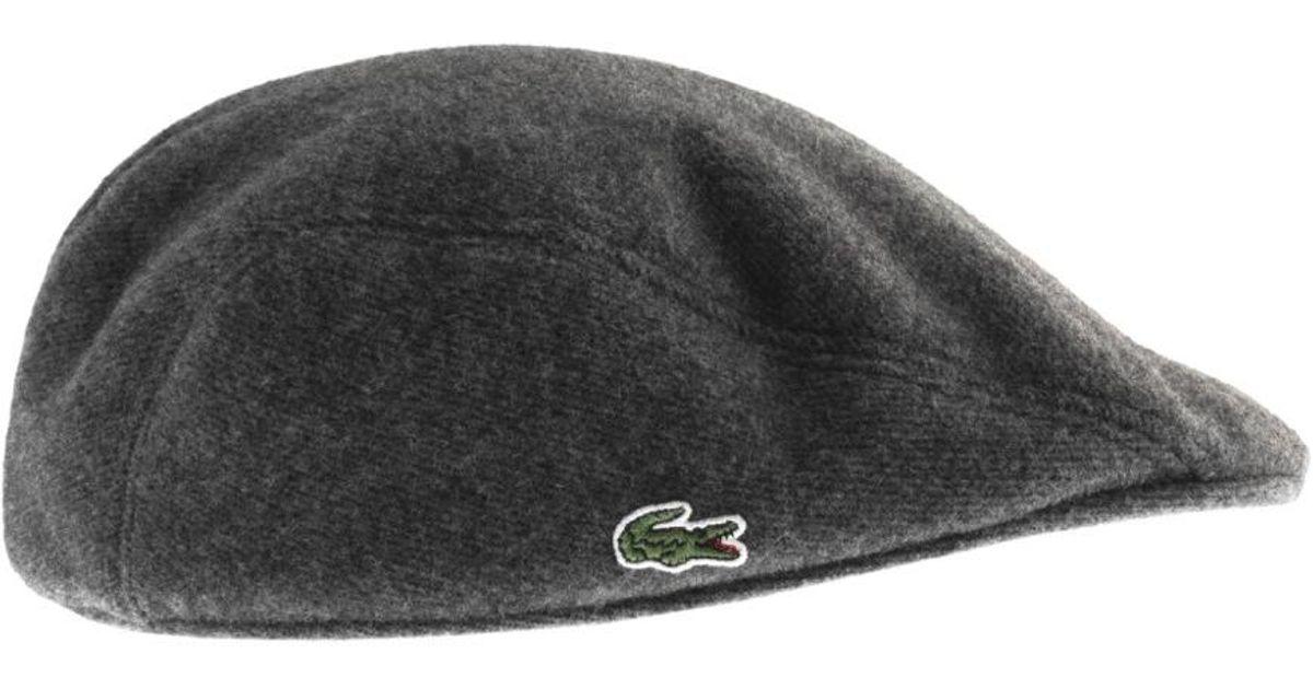 4c56e41a4 Lacoste Gray Wool Flat Cap Grey for men