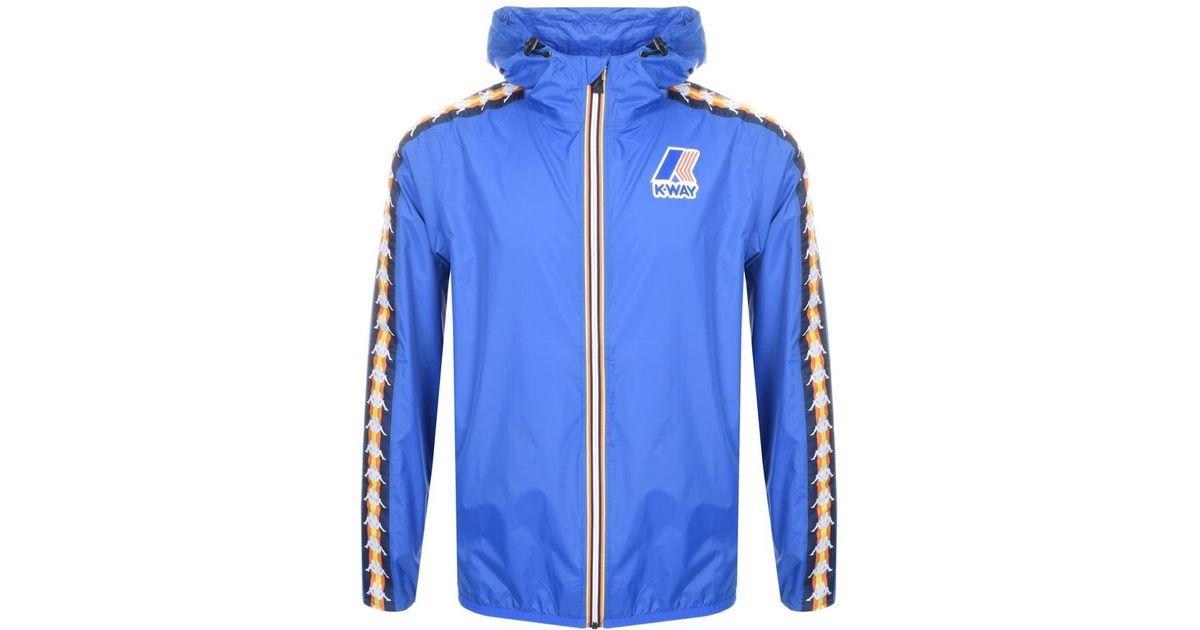 522216cbc6 K-Way X Kappa Le Vrai Claude Jacket Blue for men