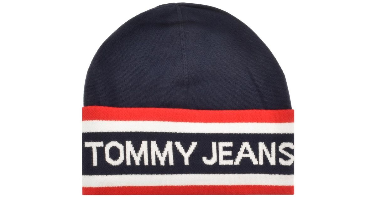 6d236f8fb4be0 Lyst - Tommy Hilfiger Heritage Beanie Navy in Blue for Men
