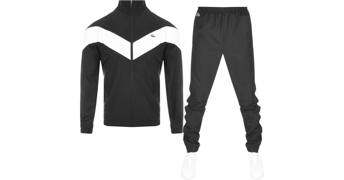 8b9297dd730a Lyst - Lacoste Sport Tracksuit Black in Black for Men