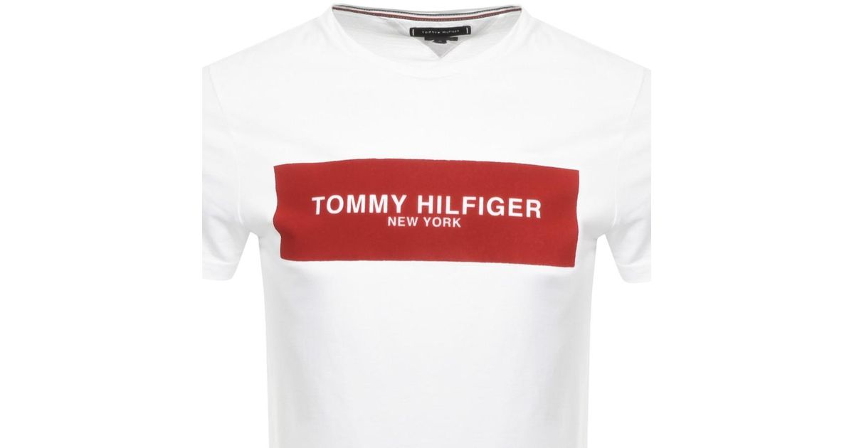 36573f80 Tommy Hilfiger Bright White Box T-shirt in White for Men - Lyst