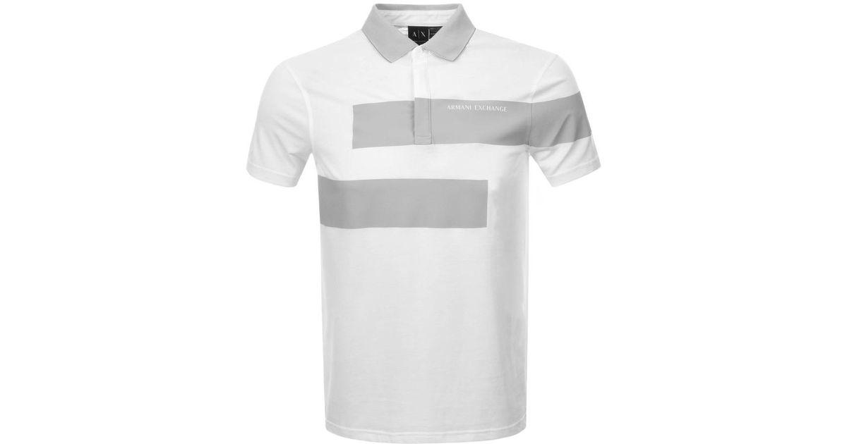 Block Armani T Shirt White For Men Exchange Colour Polo BodCxe
