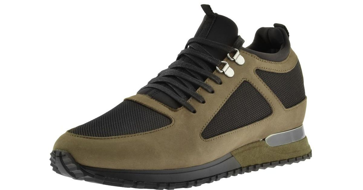 Mallet Suede Diver Trainers Khaki in