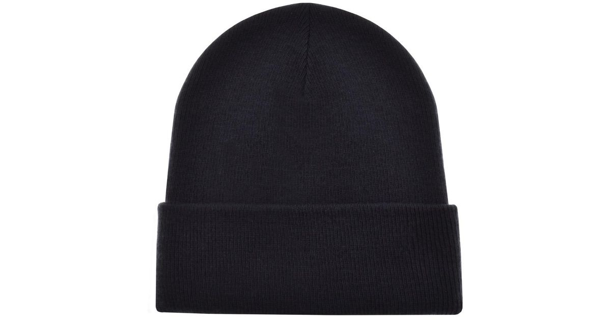 8cf135b7808 Lyst - True Religion Ribbed Beanie Hat Navy in Blue for Men