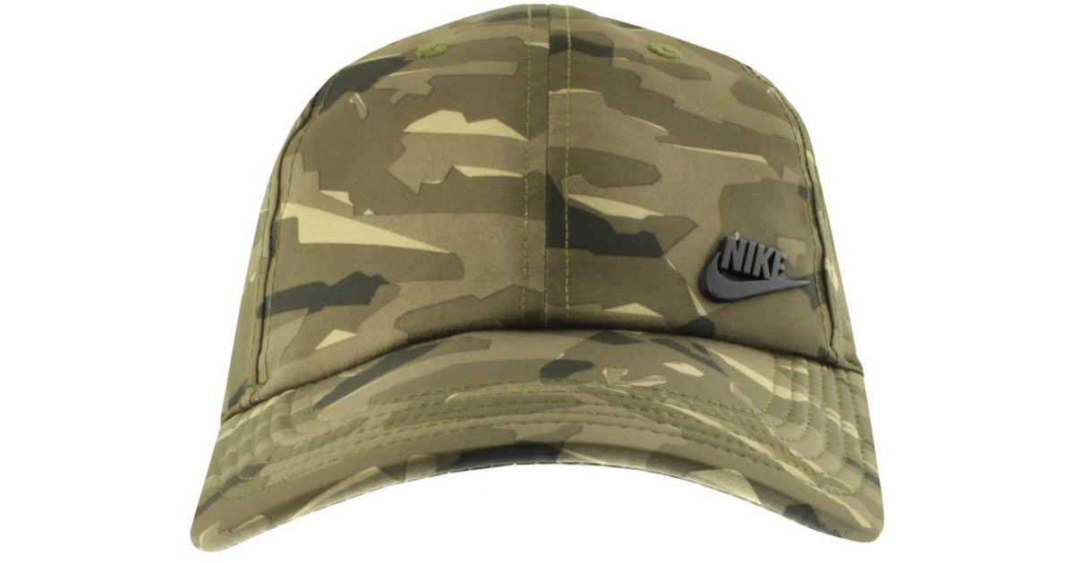 Nike - Camo Aerobill Cap Green for Men - Lyst 64a36d51798