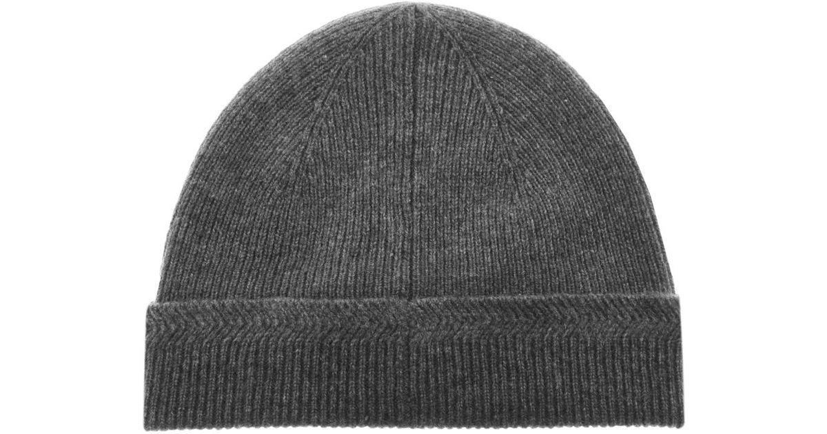 6ca1d549 Lyle & Scott Lyle And Scott Racked Rib Beanie Hat Grey in Gray for Men -  Lyst