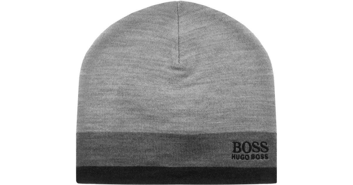 d7d4dd268d8 BOSS Green Ciny Beanie Hat Grey in Gray for Men - Lyst