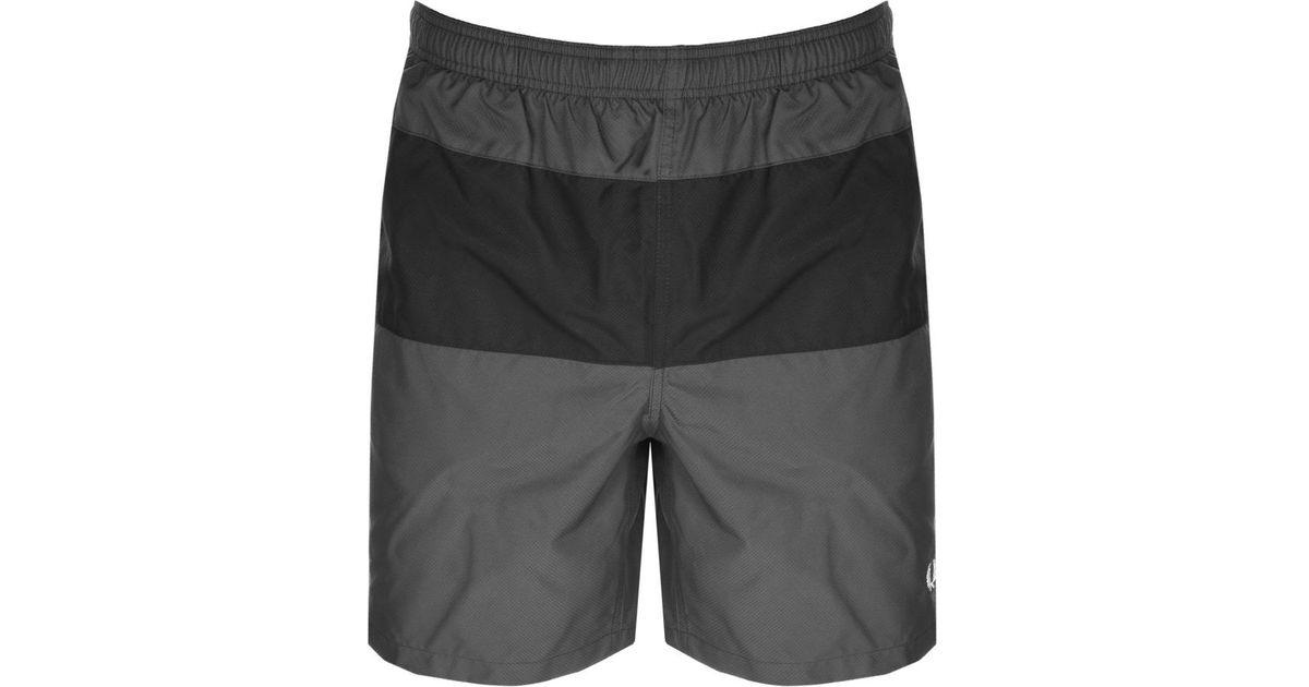 ab8ef05c3cda7 Lyst - Fred Perry Panelled Swim Shorts Grey in Gray for Men