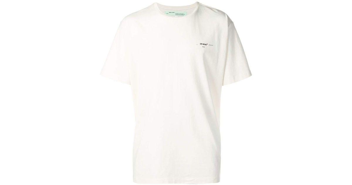 f0b9382ce3 Off-White c/o Virgil Abloh White Coloured Arrow-print T-shirt for men
